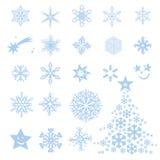 Flores y estrellas de Frost Fotos de archivo