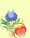 Flores y fondo stock de ilustración