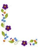Flores y fondo Foto de archivo