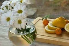Flores y frutas Fotografía de archivo libre de regalías