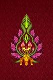 Flores y hojas aisladas Imagen de archivo