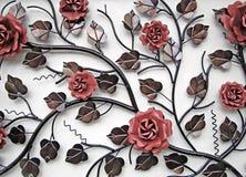 Flores y hojas del metal Fotografía de archivo libre de regalías