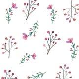 Flores y hojas inconsútiles Ilustración del Vector