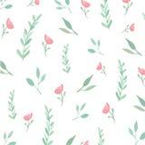 Flores y hojas inconsútiles Libre Illustration