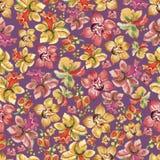 Flores y hojas, paraíso tropical de la acuarela ilustración del vector