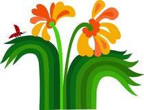 Flores y ladybug de la primavera Imágenes de archivo libres de regalías