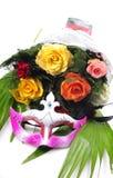 Flores y máscara Imagen de archivo libre de regalías