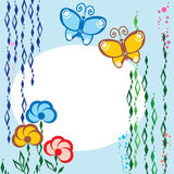 Flores y mariposa Fotografía de archivo