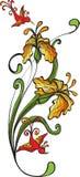 Flores y mariposa Imagenes de archivo