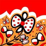 Flores y mariposas Imagenes de archivo