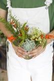 Flores y ramo de la hoja Imagenes de archivo