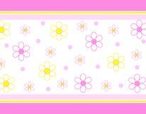 Flores y rayas Foto de archivo libre de regalías