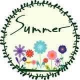 Floresce o cartão de verão Imagem de Stock Royalty Free