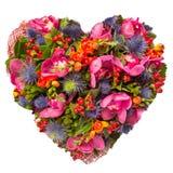Floresce o conceito floral da colagem do coração Imagem de Stock Royalty Free
