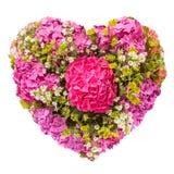 Floresce o conceito floral da colagem do coração Foto de Stock Royalty Free