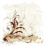 Floresce o ornamento do grunge ilustração do vetor