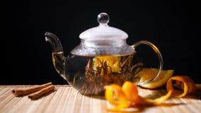 Florescence del té floreciente almacen de video
