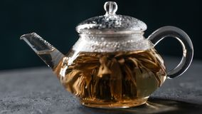 Florescence del té floreciente rojo metrajes