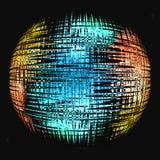 Florescent globe. Colorful florescent globe on a black background Stock Photo