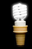 Florescent Light Bulb Ice Cream Cone Royalty Free Stock Photography