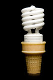 Florescent Light Bulb Ice Cream Cone Royalty Free Stock Photo