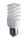 Florescent light bulb. Isolated over white Royalty Free Stock Photography