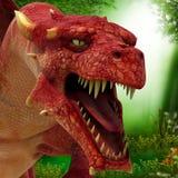 Florest dragon ahead Royalty Free Stock Photo