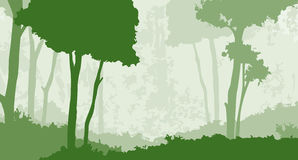 Floresta 1 ilustração stock