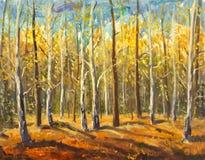 Floresta bonita do outono ilustração do vetor