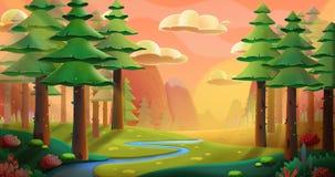 Floresta calma ilustração do vetor