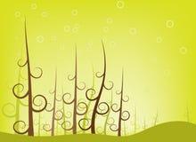 Floresta da árvore do redemoinho Fotografia de Stock