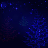 Floresta da mágica do Natal Imagem de Stock