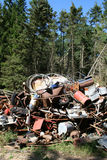 Floresta da poluição da sucata do ferro Foto de Stock