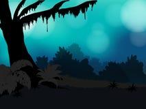 Floresta da silhueta Foto de Stock Royalty Free