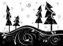 Floresta de B&w ilustração do vetor