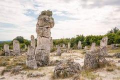 Floresta de pedra perto de Varna, Bulgária Pobiti Kamani Fotografia de Stock Royalty Free