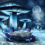 Floresta do cogumelo de inverno ilustração do vetor