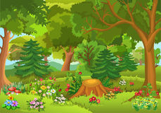 Floresta do conto de fadas Fotografia de Stock Royalty Free