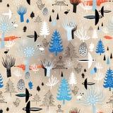 Floresta do inverno da textura do Natal ilustração royalty free