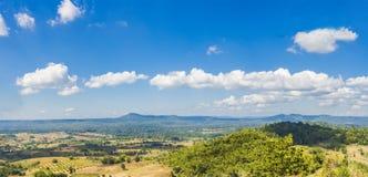 Floresta do verde da natureza da montanha da paisagem foto de stock