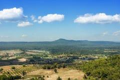 Floresta do verde da natureza da montanha da paisagem imagens de stock
