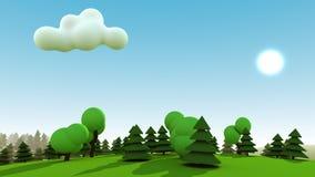 Floresta dos desenhos animados Imagem de Stock Royalty Free