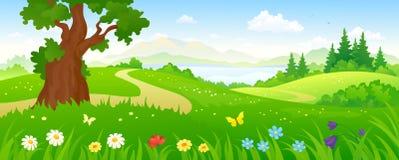 Floresta dos desenhos animados ilustração stock