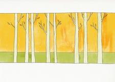 Floresta durante o outono ilustração do vetor