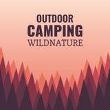 Floresta e animais selvagens acampando, selvagens Foto de Stock Royalty Free