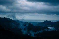 Floresta e montanhas Foto de Stock