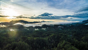 Floresta e montanhas de Puebla Imagem de Stock Royalty Free