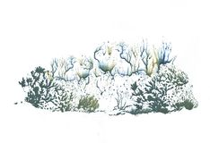 Floresta em estações diferentes, pintura do inverno do desenho da abstração foto de stock