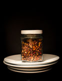 A floresta frutifica chá em um frasco Foto de Stock