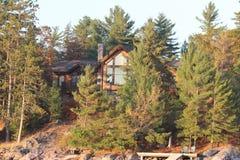 Floresta LakeHouse Fotografia de Stock